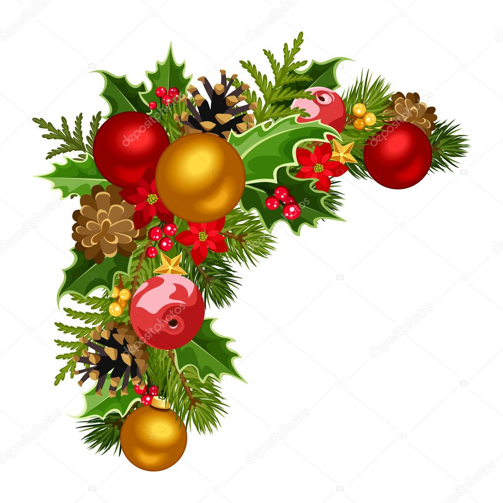 Christmas Corner Decorations Png