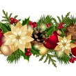 Christmas horizontal seamless background. Vector eps-10. — 图库矢量图片