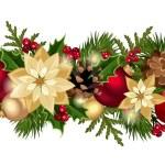 Рождество горизонтальный бесшовного фона. Vector EPS-10 — Cтоковый вектор