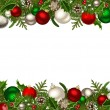 Christmas horizontal seamless background. Vector illustration. — Stock Vector #37181835