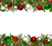 Christmas horizontal seamless background. Vector illustration. — Stock Vector