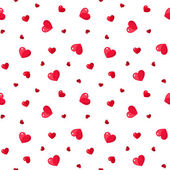 Seamless pattern with red hearts. Vector illustration. — Stock Vector