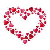 Valentine's day hearts. Vector illustration. — Stock Vector