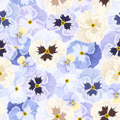 Seamless pattern with pansy flowers. Vector illustration. — Stock Vector
