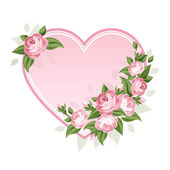 Heart and roses. Vector illustration. — Stock Vector