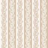 Sans couture beige motif floral. illustration vectorielle. — Vecteur
