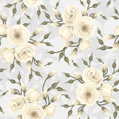 Seamless pattern with lisianthus flowers. Vector illustration. — ストックベクタ