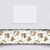 Vintage inbjudningskort med rosor. vektor illustration. — Stockvektor