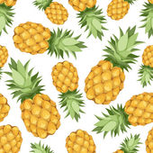 Seamless background with pineapples. Vector illustration. — Stock Vector