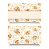 Business card with white roses. Vector EPS-10. — Stock Vector