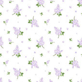 Seamless pattern with lilac flowers. Vector illustration. — Stock Vector