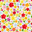 Seamless background with colorful flowers. Vector illustration. — Stock Vector #44997251