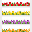 Vector banners with tulip flowers. — Stock Vector #46297387