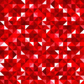 Abstract seamless background with red mosaic pattern. Vector EPS-10. — Stock Vector
