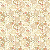 Beige seamless floral pattern. Vector illustration. — Stock Vector