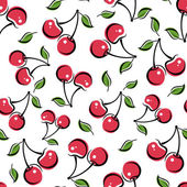 Seamless background with cherry. Vector illustration. — Stock Vector