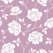 Seamless white floral pattern on purple. Vector illustration. — Stock Vector #49130933