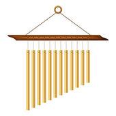 Wind chimes. Vector illustration. — Stock Vector