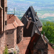 France, Haut Koenigsbourg castle in Alsace - Stock Photo
