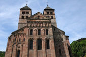 France, the roman abbey of Murbach in Alsace — Stock Photo