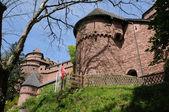 France, Haut Koenigsbourg castle in Alsace — Stock Photo