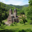 France, the roman abbey of Murbach in Alsace - Stock Photo