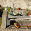 France, the cemetery of Mareil sur Mauldre - Stock Photo