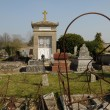 France, the cemetery of Cherence in Val d Oise - Stock Photo