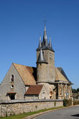 France, the church Saint Georges of Richebourg — Stock Photo