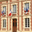 France, the city hall of Gasny in Eure — Stock Photo