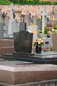 France, the cemetery of Obernai in Alsace — Stock fotografie
