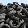 A pile of waste tires in Arthies in Ile de France — Stock fotografie