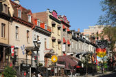 Canada, Saint Denis street in Montreal — Stock Photo