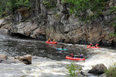 Canada, kayaker in the Parc du Trou in Desbiens — Stock Photo