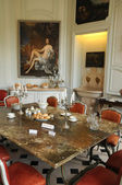 Val d Oise, the dining room of the castle of villarceaux — Stock Photo