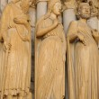 Cathedral of Chartres, statues on the porch — Zdjęcie stockowe