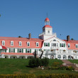 Quebec, the historical Hotel Tadoussac in Tadoussac — Stock Photo