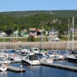 Quebec, boats in the port of Tadoussac — Stock Photo