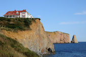Quebec, the coast of Perce in Gaspesie — Stock Photo