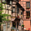 The small village of Riquewihr in Alsace — Stock Photo
