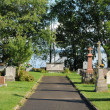 Stock Photo: Quebec, cemetery of Saint Jean