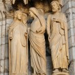 Cathedral of Chartres, statues on the porch — Stockfoto
