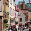 The historical old town of Quebec - Stock Photo