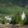 Quebec, the village of Sainte Rose du Nord — Stockfoto