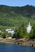 Quebec, the village of Sainte Rose du Nord — Stock Photo