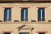 Ile de France, the city hall of Verneuil Sur Seine — Stock Photo