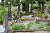 The cemetery of Hunawihr in Alsace — Stock fotografie
