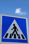 Fußgängerüberweg zeichen — Stockfoto