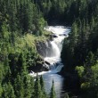 Quebec, the waterfall of Val Jalbert - Stock Photo