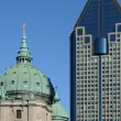 The cathedral of Montreal - Stock Photo